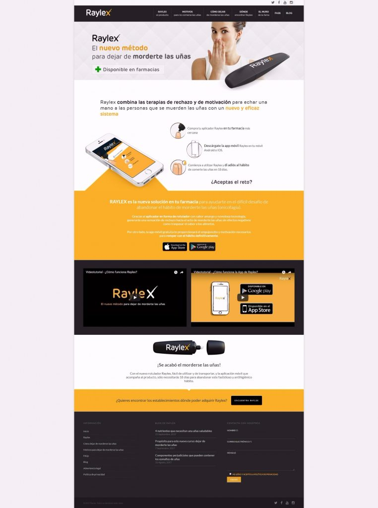 Diseño web Raylex