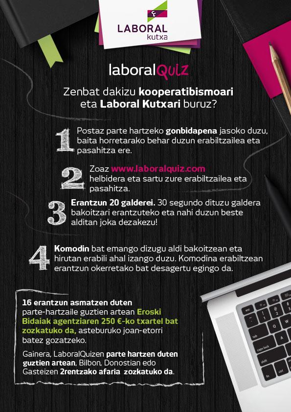 Infografía juego on line Laboral Quiz