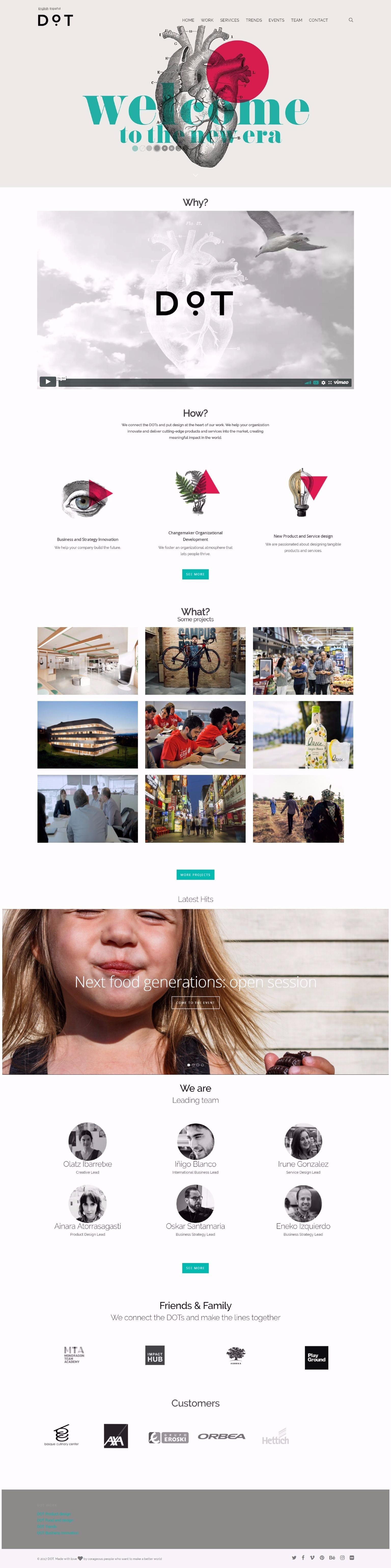 Detalle diseño web corporativa DOT