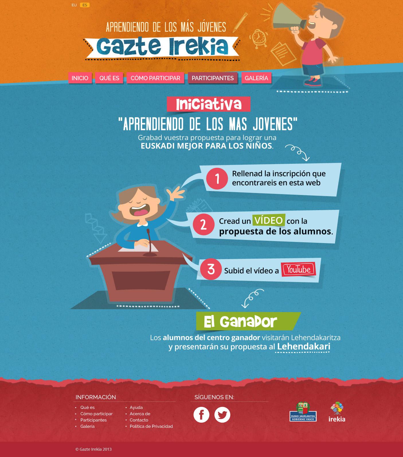 Diseño Infografía castellano Gazte Irekia