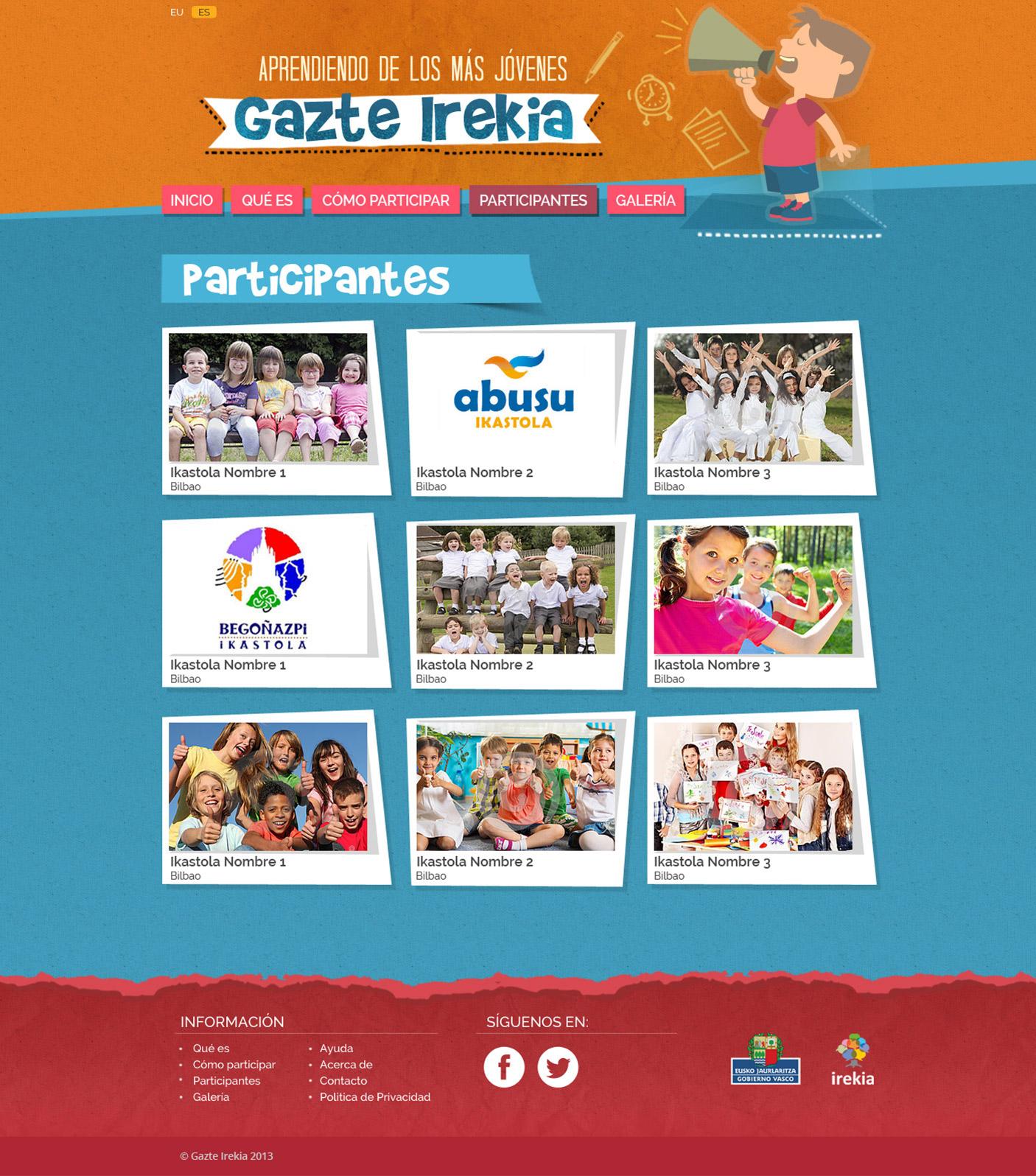 Detalle vídeos web Gazte Irekia