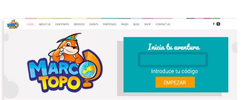 Detalle diseño web Marco Topo