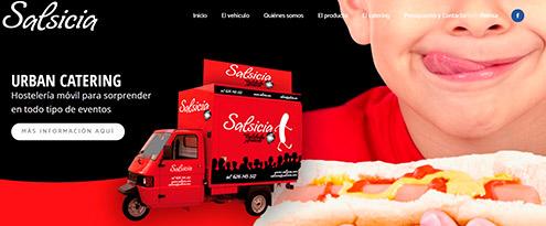 Diseño web Salsicia
