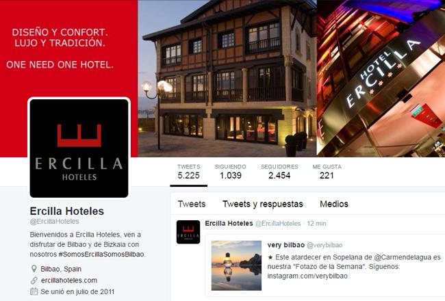 Twitter Ercilla Hoteles
