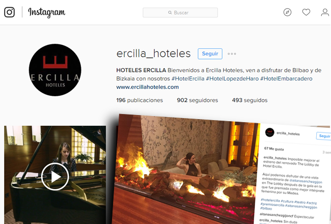 Instagram Ercilla Hoteles